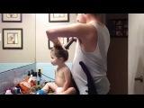 как зделать причёску дочери когда жены нет дома ??? ахахах смотреть всем